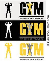 gym., gym, typografie