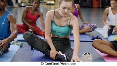 gym, houden geschikt, stand