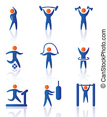 gym icons over white background vector illustration