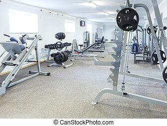 Gym interior.