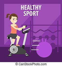 Gym interior with equipment gym