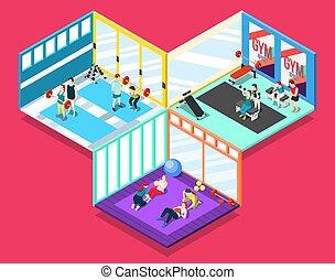 Gym Isometric Design Concept