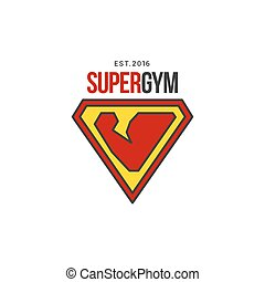 Gym logo template in vector