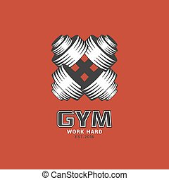 Gym logo template, vector illustrat