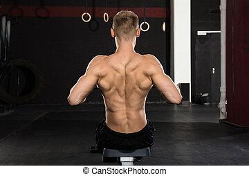 gym, man, het uitwerken