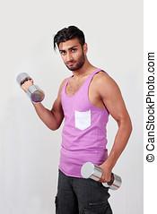 Gym man training