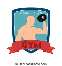 Gym Object - abstract gym object on a white background