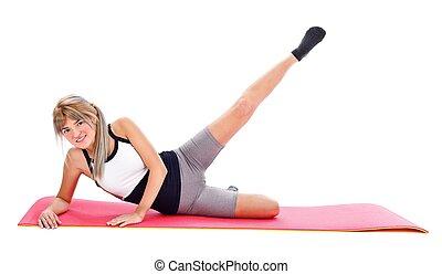 Gym on the floor