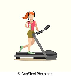 Gym people concept vector illustration in flat style