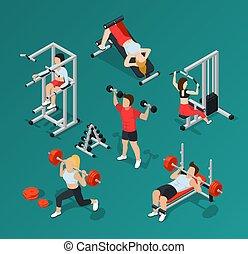 Gym People Icon Set