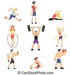 Gym People Set