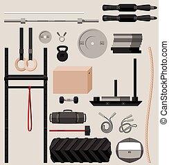 Gym sport equipment set