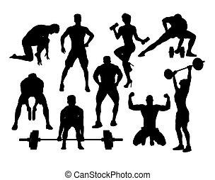 Gym Sport Silhouettes