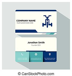 gym, trainer business card template set
