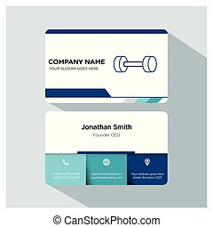gym trainer founder business card template set