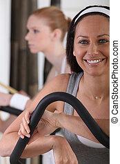 gym, uit, werkende vrouwen