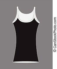 Gym Vest Vector Design Illustration