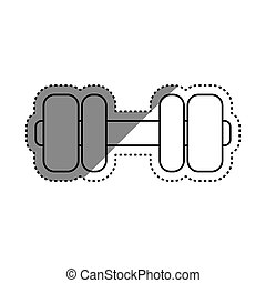 Gym weigth dumbbell icon vector illustration graphic design