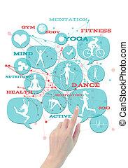 gym/fitness/athletic, icons., promozionale, affari