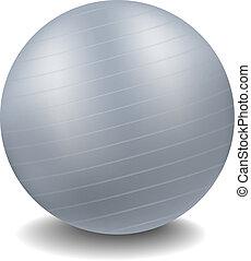 gymnase, balle, conception, gris