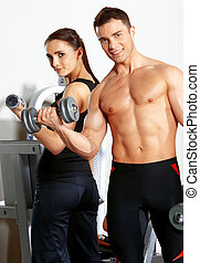 gymnase, couple