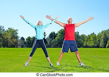 gymnase, fitness, sain, lifestyle.