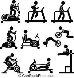 gymnase, gymnase, exercice forme physique