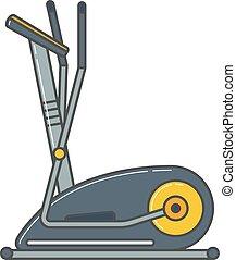 gymnase, machine, vélo, santé, activity., sport, stationnaire, exercice