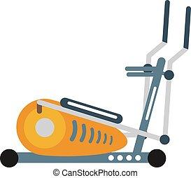gymnase, machine, vélo, santé, vector., activité, sport, stationnaire, exercice