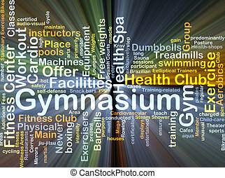 Gymnasium background concept glowing