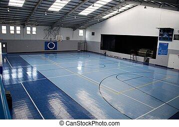 Gymnasium - Blue Private school gymnasium