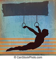 Gymnast background illustration