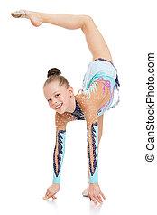 Gymnast lifted