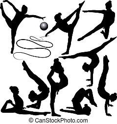 gymnast, meisje, atleet