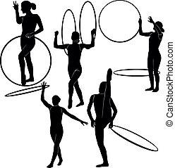 gymnast with a hoop