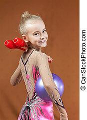Gymnast young girl