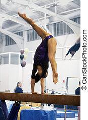 gymnaste, faisceau