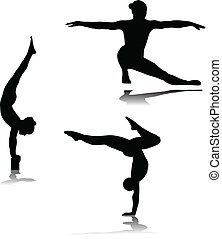 gymnastic vector silhouettes