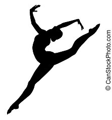 Abstract vecror illustration of gymnastic