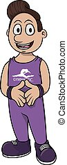 Gymnastic exercise cartoon design