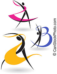 Gymnastic figures - The letters in the form of gymnastic...