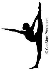 Gymnastic - Abstract vecror illustration of gymnastic