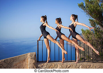 gymnastic or ballet dance pose