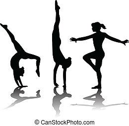 gymnastic_2 - gymnastic vector silhouette