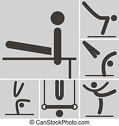 Gymnastics Artistic icon - Summer sports icons set -...