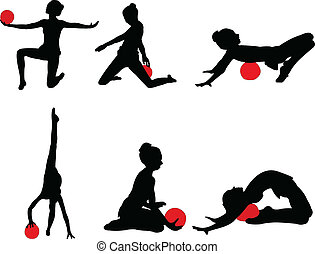 gymnastics girl 2 - vector
