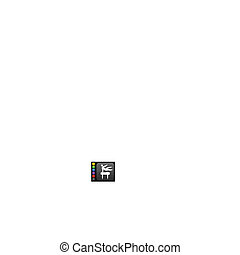 Gymnastics icon on square internet button