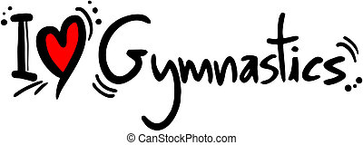 Gymnastics  love - Creative design of gymnastics