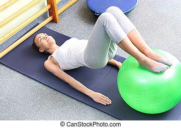 Gymnastics on the ball.