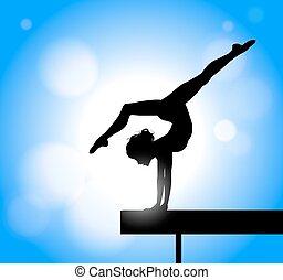gymnastics on the beam